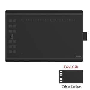 HUION 새로운 1060 플러스 필름 선물 및 8기가바이트 TF 카드와 8192 레벨 그래픽 그리기 탭 디지털 펜 탭