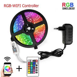 Wifi Ir Controller Rgb 5050 2835 Led Light Strip Rgb 5m 10m 15m 20m Tape Diode Dc 12v Remote Control Adapter Swy jllxVO bdebag