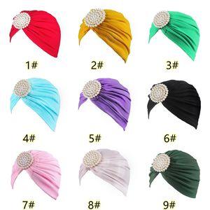 New Fashion Adulto Ladies Hat White Pearl Diamante algodão indiano Lenço Hat Cap headgear Hot Sell