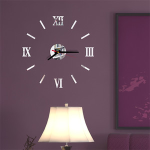 DIY Art Wall Stickers Clock Números romanos Personalidad Silencio Acrílico Cocina Sala de estar Decorar relojes Best Sellers Venta caliente 7 5ld F2
