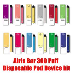 100% Original Bar Airis Kit Device Pod jetable 300 Puff 280mAh prérempli Portable Vape Stick Pen VS Airis Max XL à usage unique Pod DHL