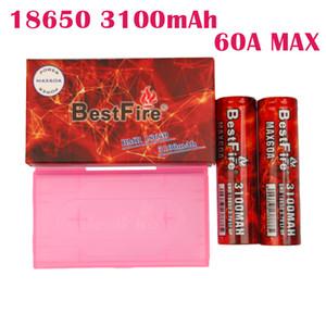 Otantik enisisfire 3100 mAh 60A 18650 pil kırmızı renk şarj edilebilir lityum vape pil max deşarj 60A DHL kargo