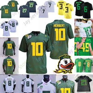 2020 Oregon Ducks Football Jersey NCAA Justin Herbert CJ Verdell Kayvon Thibodeaux Tyler Shough DJ Johnson Justin Flowe Noah Sewell