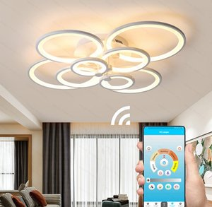 85-265V Remote control Acrylic Ceiling lights For Living Room Bedroom Home Chandelier Ceiling Fixtures APP Indoor Lighting