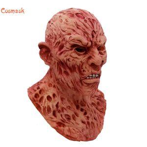 Cosmask Halloween Realistisch Erwachsene Partei-Kostüm Horror Deluxe Freddy Krueger Scary Carnival Cosplay Maske