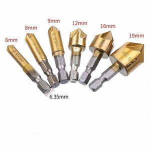6pcs HSS Chamfer Countersink Chamfer Drill Bit 1 4