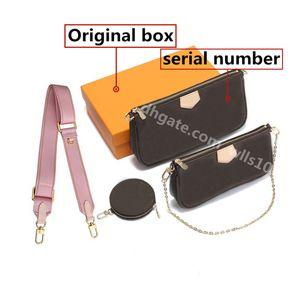 Bolsa Mulheres Bolsa Bolsa Bolsa De Bolsa De Embraiagem Mensageiro Saco Cross Body Multi PoChette Data Código Original Caixa Bolsas De Ombro