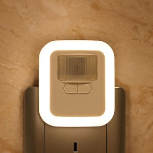 LED plug-in motion sensor automatic wall-mounted night light dimmable bathroom light