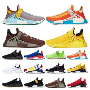 human race extra eye nmd running shoes pharell williams Bold Orange Bright Yellow Chocolate Legacy Purple mens womens sport sneaker outdoor