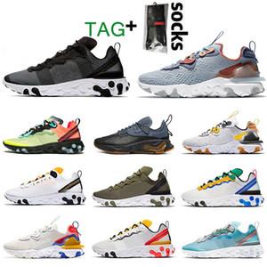 2020 nike react element 55 87 Siyah BEYAZ Undercover Erkekler Kadınlar Yelken Gri Antrasit Eğitmenler Tasarımcı Spor Ayakkabılar için 87 EPIC Koşu Ayakkabı tepki tepki