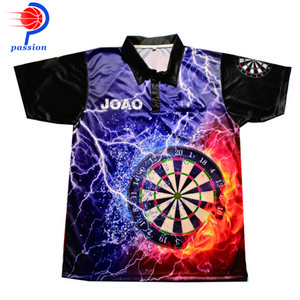 2021 New Arrival 3 Button up Customizable Design Thundering Dart Shirts For Team Player With Custom Pockets