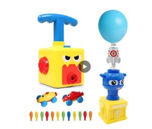 NEW Power Balloon Launch Tower Toy Puzzle Fun Education Inertia Air Power Balloon Car Science Experimen Toys for Children Gift