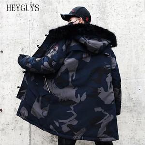 NAGRI New men's fashion winter cotton coat new fur coat men's warm jacket fashion casual pike long thick jacket coat 201028