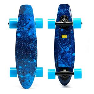 Stock américain, bleu de planche à roulettes électrique à quatre roues de Sky Mode Personal Skate-skate-skate-skate-planche électrique avec distante W34815708