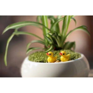 Factory Fairy Garden Miniature Yellow resin crafts bonsai DIY decors swimming Duck 1.8*1.5cm