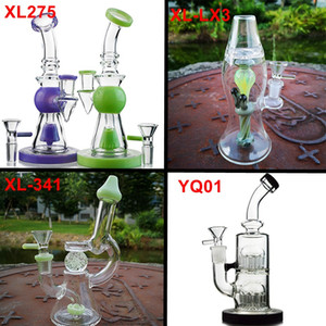 Ship By Sea 4 Style Fab Egg Glass Beaker Bongs Showerhead Perc Bong Recycler Dab Rig Water Pipes Oil Rigs Bubbler Smooth Pipe Wholesale