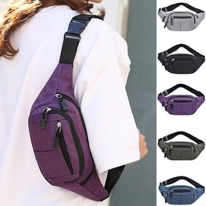 30 Women Men Waist Bags Casual Fanny Pack Men Women Simple Leisure Fashion Oxford Sport Fitness Waist Packs Sac Banane
