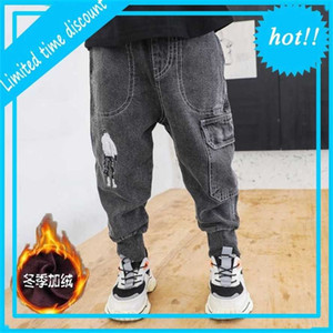 Broek Fashion Boys jeans Children Ripped Leggings Spring Denim Clothing Casual Jean Baby 4 to 14 years