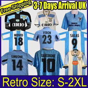 1999 2000 2001 Lazio Jersey Klose 11 Retro Sergej 115 Edición conmemorativa 2014 2014 2015 Jersey de fútbol Nesta 13 Home Maglietta da Calciatore