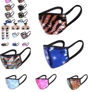 NEW Designer Face Mask Fashion Women Bling Bling Diamond Protective Masks Cotton Mouth Reusable Masks sequins Y1