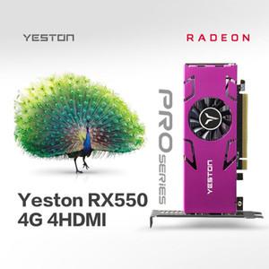 Yeston RX550-4G Graphics Card 4 4 Screen Support Split Screen 4 GB Speicher / GDDR5 / 128bit 6000MHz VGA + + DVI-D-Videokarte
