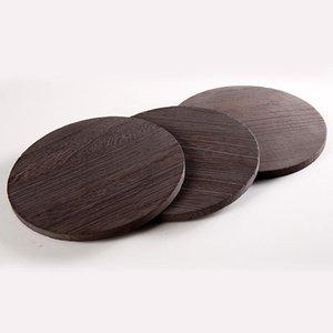 Горящая древесная чашка PAD теплоизоляционная круглый стол против горячего дерева горшок Placemat посуда аксессуары бытовые