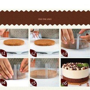 1 rotolo rotolo mousse mousse frangia trasparente cake collare circostanti film in plastica cucina cottura imballaggio bordo decorazione fodera I2F41