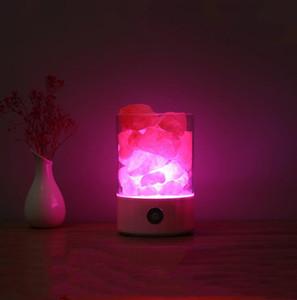Accueil Decor Led Crystal Sel Light Purificateur d'air Coloré Lampe Sommet Smart Charge Smart Chambre USB Lampes de chevet Chauffe Lava Lumières Cadeau DWE3059