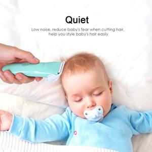 Bebek Çocuk Saç Kesme Sessiz Şarj edilebilir Giyotin Bebek düşük gürültü Elektrik Kuaförlük USB Kablosu haircutting önlüklüydü