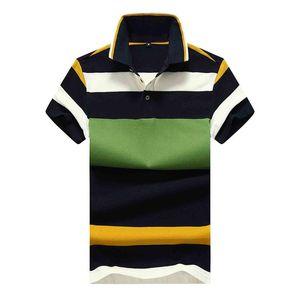 Good Quality New Summer Mens Short Sleeve Polos Shirts Casual Mens Cotton T Shirt Fashion Striped Men's Slim Tops MY165