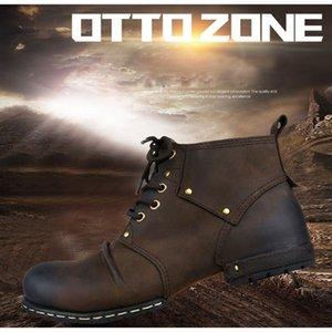 Otto Zone Handmade Véritable Cuir Veau Cuir pour homme Bottes à lacets Bottines à lacets Bottines Chaussures Hommes avec Taille de la fourrure Bottes d'hiver Botte d'hiver 201126