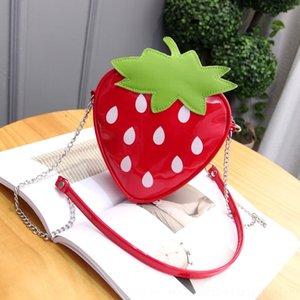 Ywxj5 petite fille messeng Smal tong tong bao er mignon petit sac fraise pour enfants de sac d'épaule baoStrawberry fille enfants à la mode