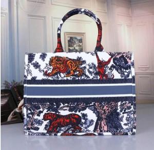 2020 جديد نمط حقيبة يد طباعة التطريز متعدد الألوان واحدة الكتف سعة كبيرة حقيبة قماش محفظة