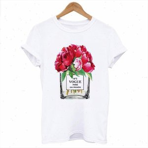 T shirt Womens Vogue perfume printed T shirt Harajuku aesthetics female tops clothing Fashion Short sleeve Tee