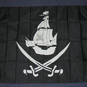 100d Banderas Cm Bandera 150x90 gratuitas de Swords Y Nave pirateship poliéster pirata cruzada por encargo del envío nuevos banners qylOgR network2010