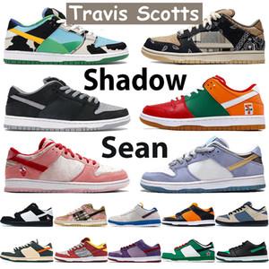 Top Travis Scotts Uomo Donne Donne Scarpe da basket Chunky Sean Shadow University Orange Marine Plum Infrarossi Pino Verde Vietech Sneakers sportive