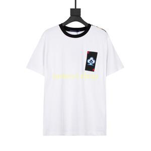Taille de l'UE XS-L 2021 Designer Luxury Hommes Tshirt T-shirt T-shirt Mode Broderie Heart Summer High Street Croussique T-shirt respirant