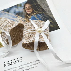 Dentelle Serviette Boucle de mariage de mariage Boucle président Jute Napkin Ring fête de mariage Banquet table décoration serviette Anneaux DBC BH4230