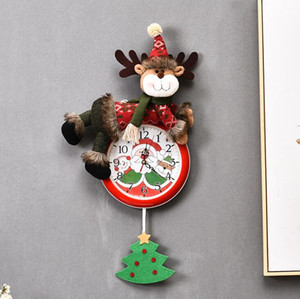 Christmas suspendu horloge Santa Claus Bonhomme de neige Christmas Suspendre Horloge murale Merry Noël Home Restaurant Chambre à coucher Chambre à coucher Décoration HHE3874