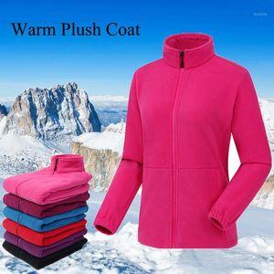 المرأة في الهواء الطلق المشي سترة المرأة الدافئة القطبية الصوف الرياضية جاكيتات التخييم الشتاء جاكيتات معطف المرأة ملابس 1