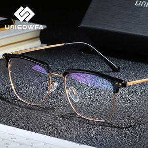 Бифокальная Progressive Optical очки Мужчины Близорукость Предписание очки Мужчины против Blue Light + Фотохромные очки Дальнозоркость 1,74