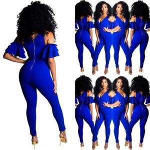 7E9A Women Women Women Traje de mujer Completo Twoset Ruffles Bow Blazers Sleeve Traje Pantalones Oficina Lady Fashion Drowsuit Black Dos P Pie