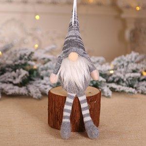 Natale ornamento a maglia peluche gnome bambola albero natale albero pendente pendente pendente decorazione decorazioni regalo decorazioni albero ewf3236