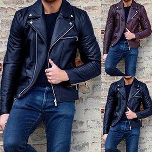 Erkekler Faux Deri Ceketler Kış Veste Cuir Homme Mont Erkek Sıcak Kalça Haşhaş Deri Ceket Giyim Deri Ceket Bombacı Ceket1