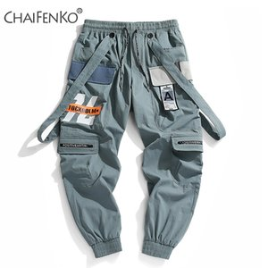CHAIFENKO Nuovo caldo Jogger Tempo libero Sport pantaloni degli uomini di Hip Hop Streetwear fascio piede Cargo Pants Moda Uomo stampa pantaloni 201016
