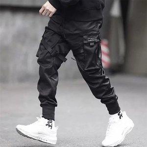 April Momo Men Multi-Pocket Harem Hip Pants Pants Pantaloni Streetwear Sweatpants Hombre maschile Casual Fashion Pants Cargo uomo 201110
