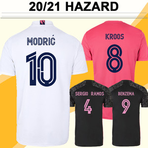 20 21 Опасность Benzema Sergio Ramos Mens Soccer Jerseys Модрик Mariano Kroos Isco Asensio Marcelo Home White Прочь Красный 3-й футбол