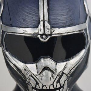 Halloween Taskmaster America vedova Anthony Cosplay Casco Latex Maschere Supereroe Costume Puntelli Bla Party Masters Masters Mask ACECF