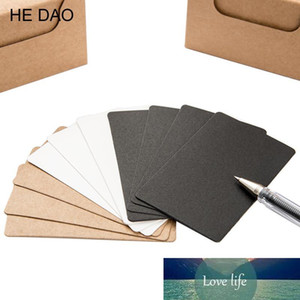 100 Pcs box Brief Design Black White Kraft Paper Memo Pad Notebook Business Paper Cards Word Cards Stationery Stickers