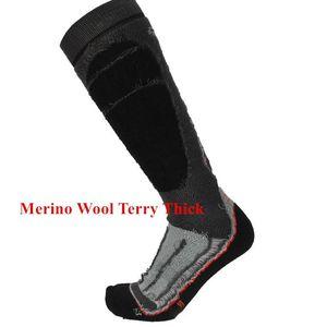 2 Pcs Merino Wool Socks Winter For Outdoor Sports Cycling Skiing Equipments Comfortable Durable Thick Warm Classic Ski Socks